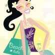 Hot beach chic - Stock Vector