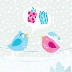 Christmas birds — Stock Vector