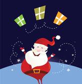 圣诞老人和圣诞礼物 — 图库矢量图片