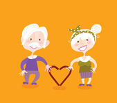 Grandparents in love — Stock Vector