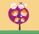 Big family generation tree — Stock Vector