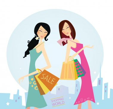 Shopping women in the city