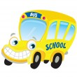 Isolated yellow school bus - Stock Vector