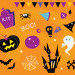 Halloween icons and design elements — Stock Vector