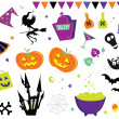 Halloween vector Icons set III — Stok Vektör