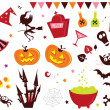 Royalty-Free Stock 矢量图片: Halloween vector Icons set III