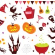 iconos Halloween vector set iii — Vector de stock