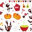 Halloween vector Icons set III — Stock Vector