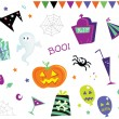 Halloween design elements and icons I — Stock Vector