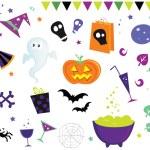 Halloween vector design elements — Stock Vector