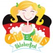 Oktoberfest (Bavarian female) — Stock Vector