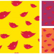 Royalty-Free Stock Vector Image: Lips seamless vector background