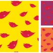 Lips seamless vector background — Stock Vector