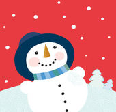 Christmas holiday snowman — Stock Vector