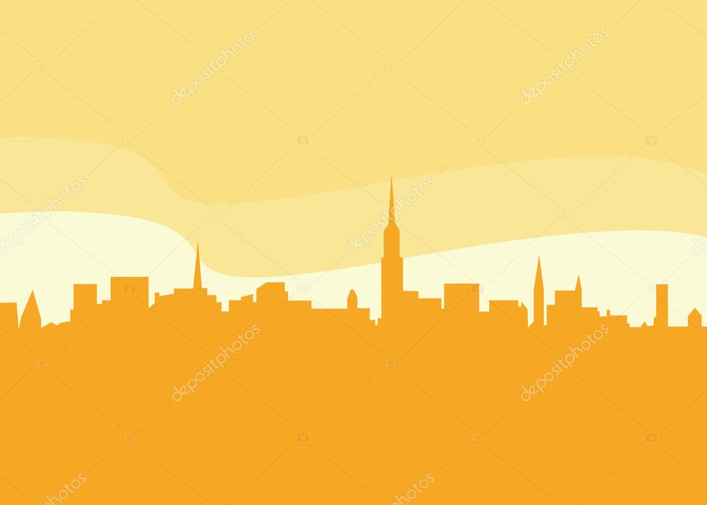 New York city silhouette. Vector Illustration.  — Stock Vector #2643192