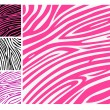 Pink zebra skin animal print pattern — Stock Vector