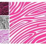 Pink zebra skin animal print pattern — Stock Vector