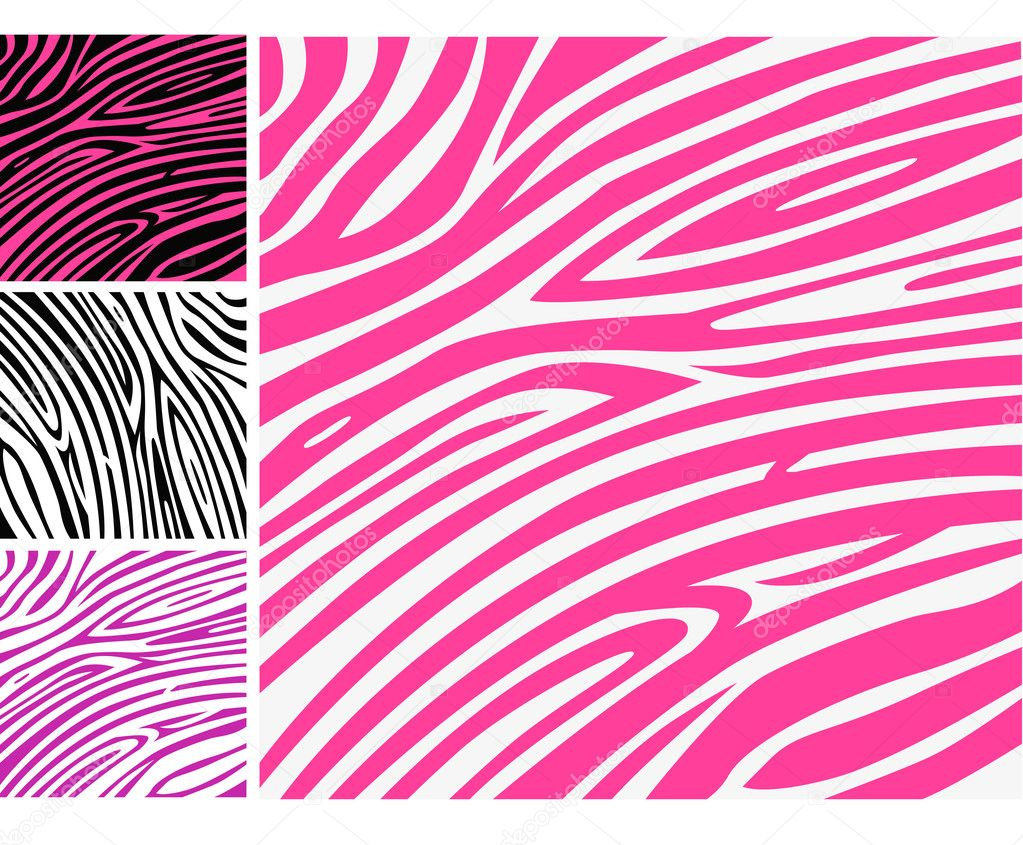 Pink zebra background pattern - perfect texture for your unique design! — Stock Vector #2675090