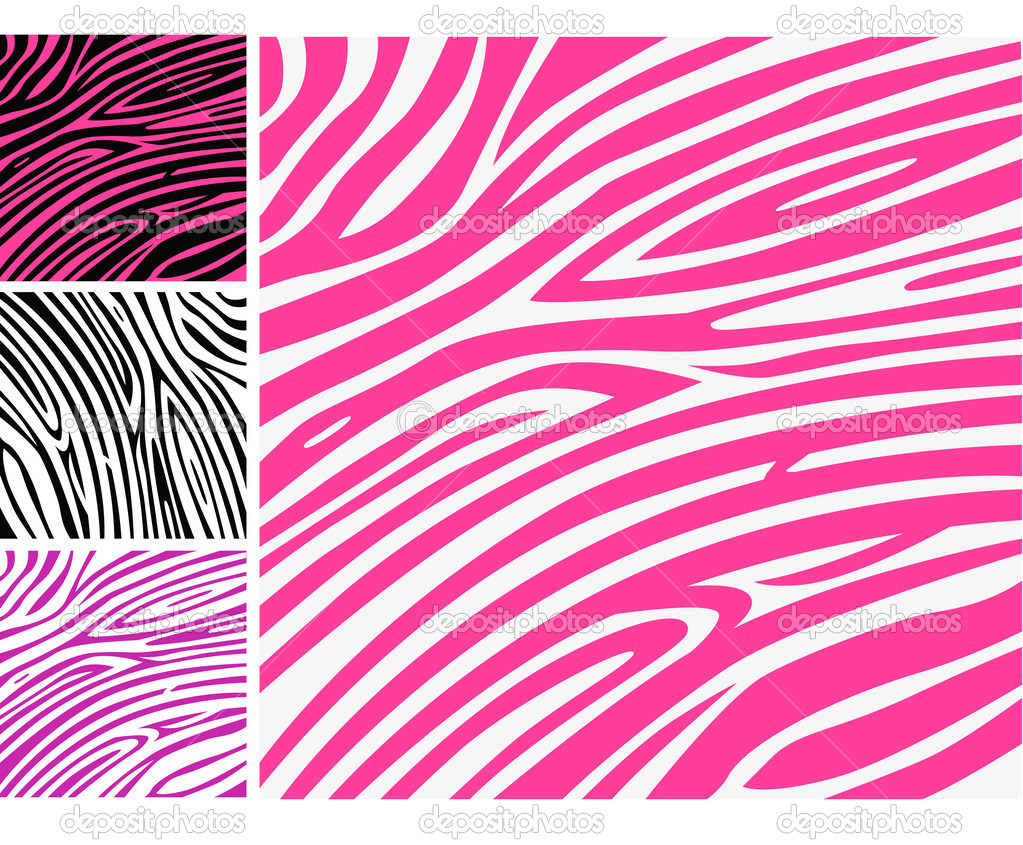 Pink zebra skin