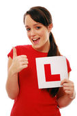 Excited learner driver — Stock Photo