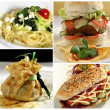 Food collage — Stockfoto