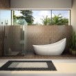 Modern interior of the bathroom — Stock Photo