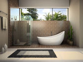 Banyo modern iç — Stok fotoğraf