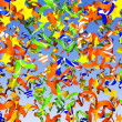 Colorful confetti background — Stock Photo