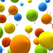 Colourful party balloons - Stock Photo