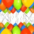 Party balloons background — Stock Photo