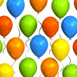 Colourful party balloons — Stock Photo