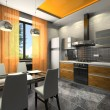 Interior of the fashionable kitchen - Stockfoto