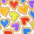 Stock Photo: Multicoloured heart cookies