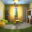Modern interior of the childroom — Stock Photo