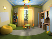 Modern interior of the childroom — Stock Photo