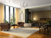 View on the modern hotel suite — Stock Photo