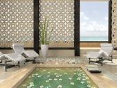 Interior del moderno spa — Foto de Stock