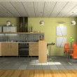 Interior of fashionable kitchen — Stock Photo #2647966
