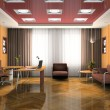 Interior of the modern waiting room — Stock Photo