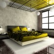 Luxurious interior of bedroom - Stock Photo