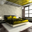 Stock Photo: Luxurious interior of bedroom