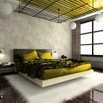 luxuoso interior do quarto — Foto Stock