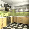Stock Photo: View on the modern kitchen