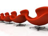 红色皮椅隔离 — 图库照片