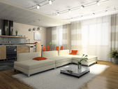 Interior of the stylish apartment — 图库照片