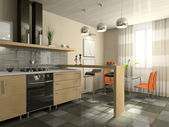 Interior of fashionable kitchen — Стоковое фото