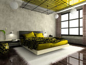 Luxurious interior of bedroom — Foto de Stock
