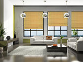Interior of the stylish apartment — Stock Photo