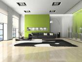 Interior moderno con sofá — Foto de Stock