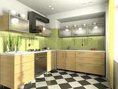 Ver en la cocina moderna — Foto de Stock